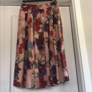 Zara floral printed skirt